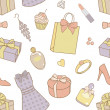 Stock Photo: Women-things-pattern