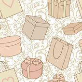 Presenter och köpa mönster — Stockfoto