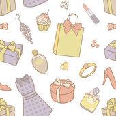 Women-things-pattern — Stock Photo