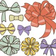 Bows set — Stock Photo