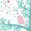Bird`s-love-song — Stock Photo