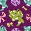 Resent-bows-pattern — Stock Photo