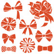 Red-bows-set — 图库照片