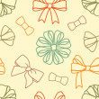 Various-bows-pattern — Stock Photo