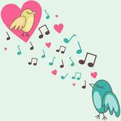 Birds-in-love — Stock Photo