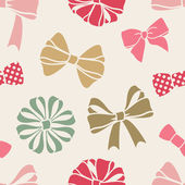 Bows-pattern — Stock Photo