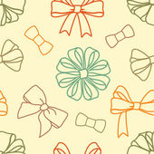 Various-bows-pattern — Stockfoto