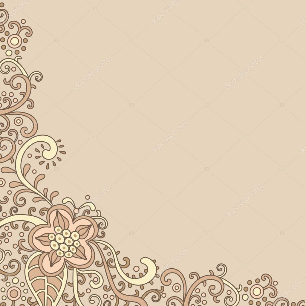 Vector ornamental decorative card template — Stock Photo #13735835