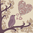 Bird-and-heart — Foto de Stock