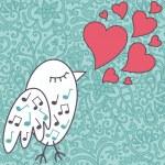 Bird-singing-a-love-song — Stock Photo
