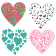 Hearts-set — Stock Photo