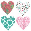 Royalty-Free Stock Photo: Hearts-set