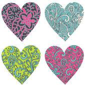 Ornamentado-corações-set — Foto Stock