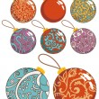 Christmas decoration balls set — Stock Photo
