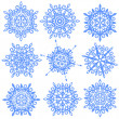 Snowflakes set — Stock Photo