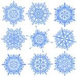 Snowflakes set — Stock Photo