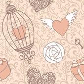 Pink valentine pattern — Stock Photo