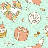 Valentine day seamless pattern — Foto de Stock