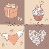 Valentine`s pattern — Stock Photo