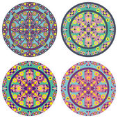 Caleidoskope mandala set — Stock Photo