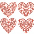 Decorative-hearts-set - Foto de Stock
