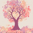 Love-tree-card — Stock Photo