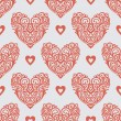 Ornate-hearts-pattern — Stock Photo