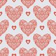Ornate-hearts-pattern — Stock Photo