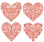 Decorative-hearts-set — Stock Photo