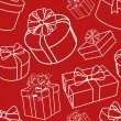 Red-presents-pattern — Stock Photo