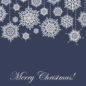 Flocos de neve-cartão — Foto Stock