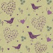 Stock Photo: Birds pattern