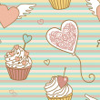 Valentine pattern - Stock Photo