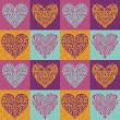 Valentine hearts pattern - Stock Photo