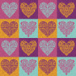 Stock Photo: Valentine hearts pattern