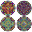 4 mandala set - Stock Photo
