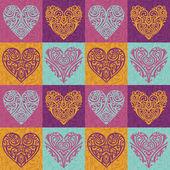 Padrão de corações dos namorados — Fotografia Stock