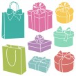 Stock Photo: Presents silhouettes