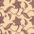 Stock Photo: Retro flower pattern