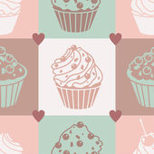 Cakes pastel pattern — Stock Photo