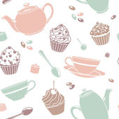 Tea pattern — Stock Photo