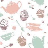 Tea pattern — Stock Photo