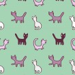 Cats pattern - Stock Photo
