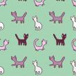 Cats pattern — Stock fotografie