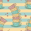 Cups pattern - Stock Photo