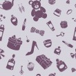 Various things pattern - Stock Photo
