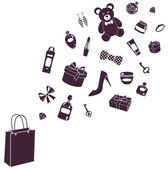 Purchase silhouette — Stock Photo