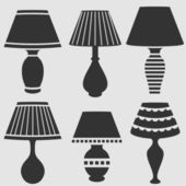 Lamps set — Stock Photo