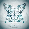 Stock Photo: Butterfly grunge card
