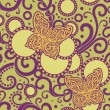 Ornate yellow butterfly pattern — Stock Photo
